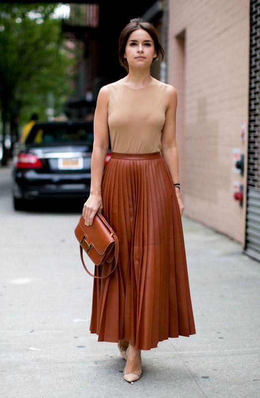 look street style con falda