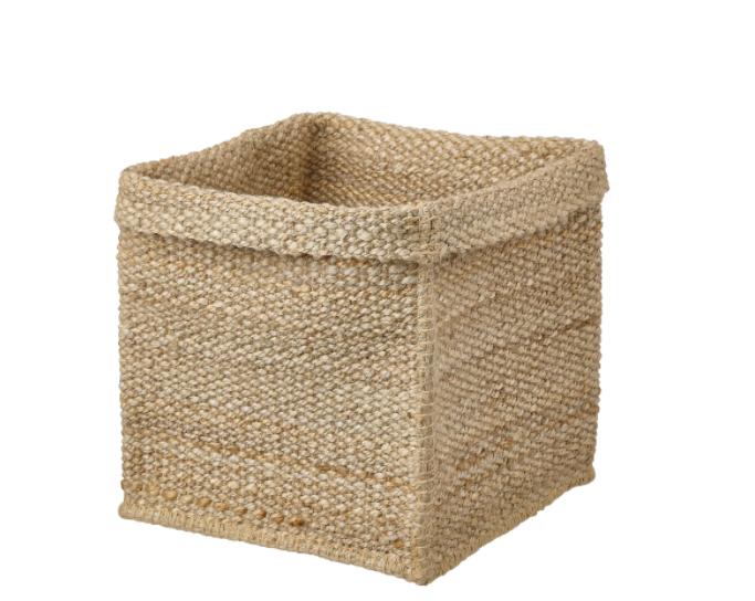 cestas yute para el cambio de armario